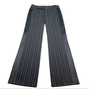 Nanette Lepore Striped Satin Trim Dress Pants